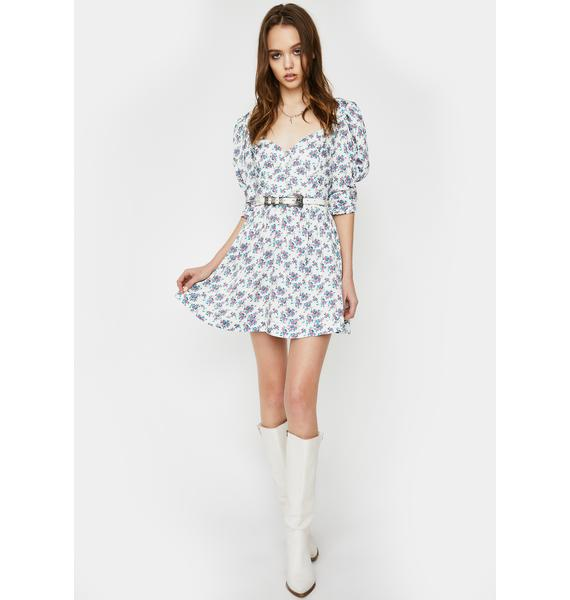 For Love & Lemons Taggart Floral Mini Dress