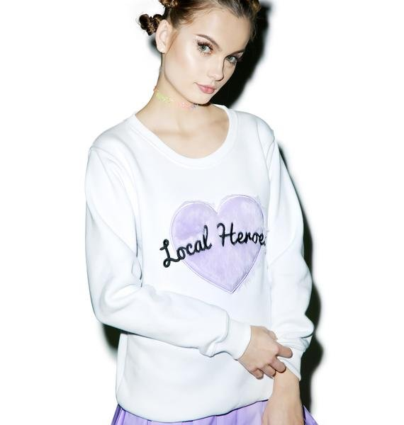 Local Heroes Fur Heart Sweatshirt