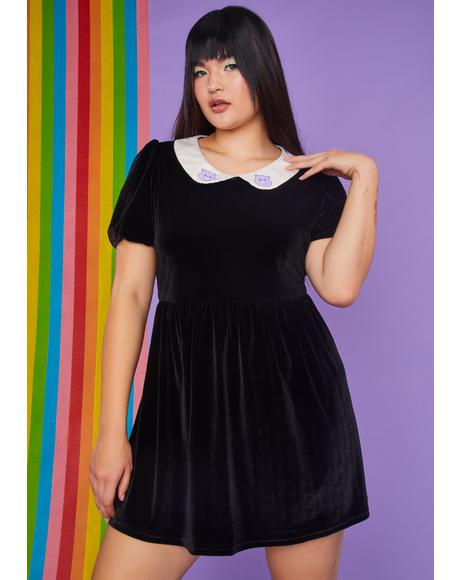 Truly Love You Forever Velvet Babydoll Dress