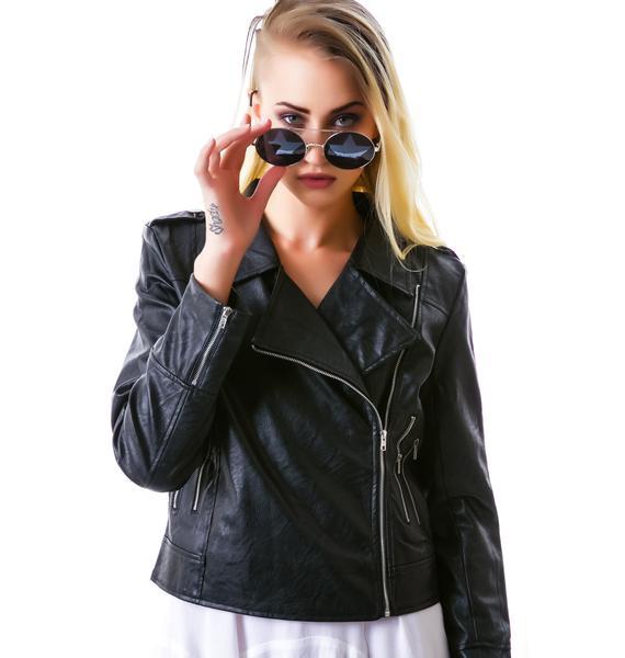 Free At Heart Fringe Moto Jacket
