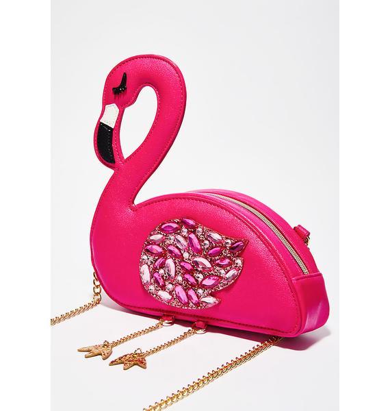 Betsey Johnson Flamingoals Crossbody Bag