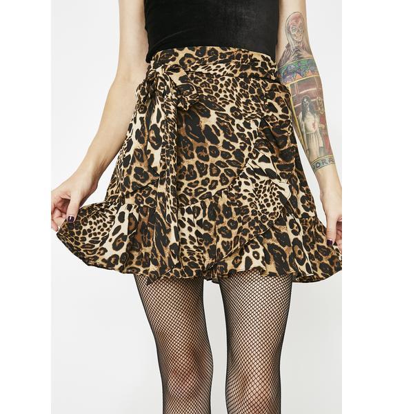 Foxy Feline Leopard Skirt