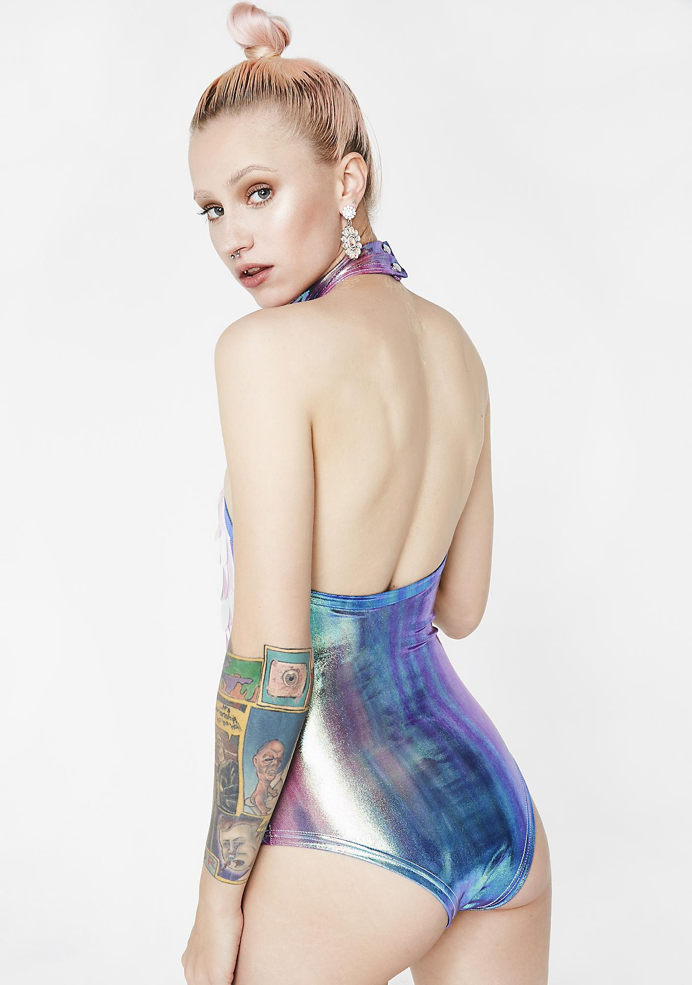 Rolita Rave Couture Candy Unicorn Delusion Bodysuit