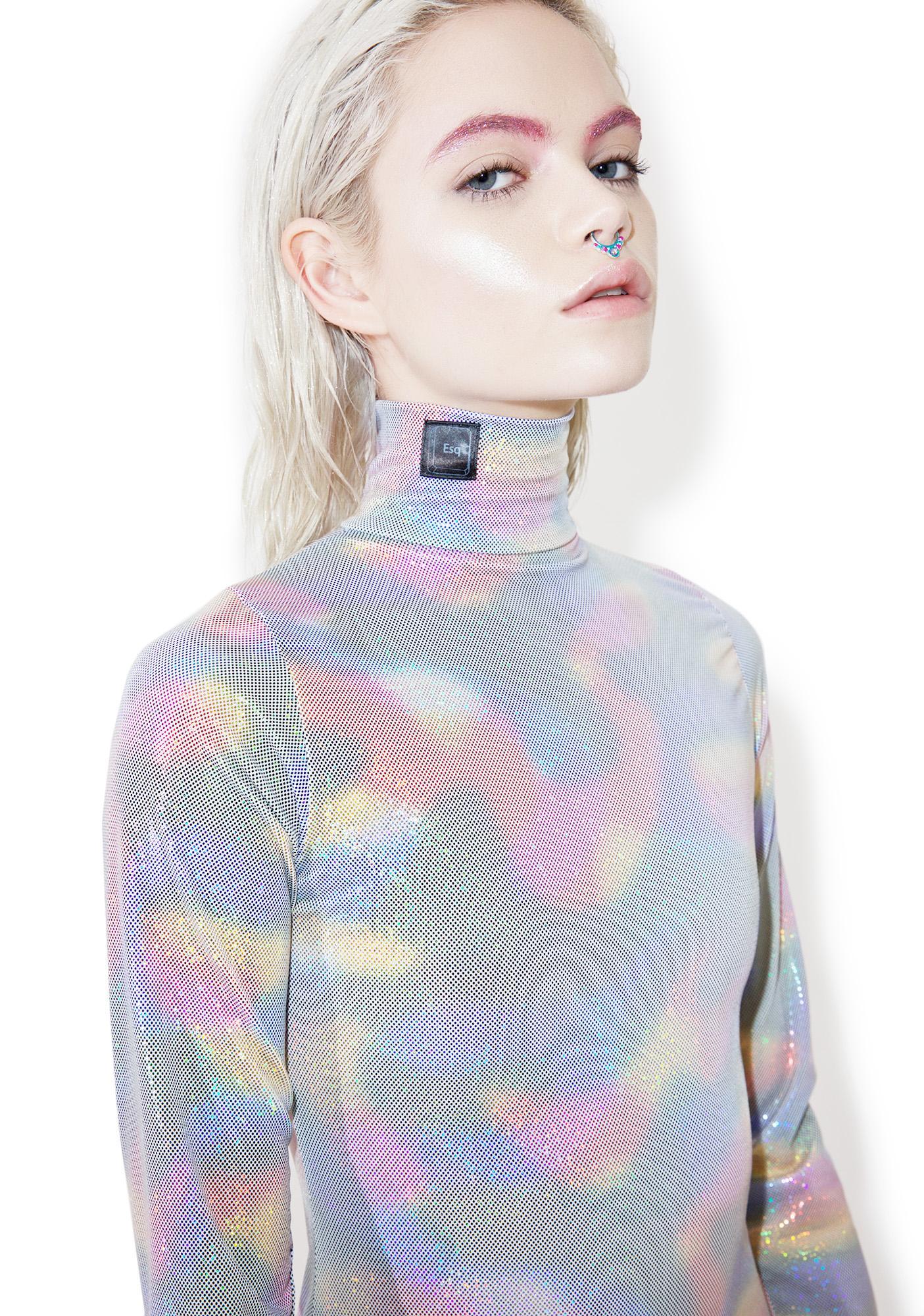 ESQAPE Asymmetric Turtleneck Dress