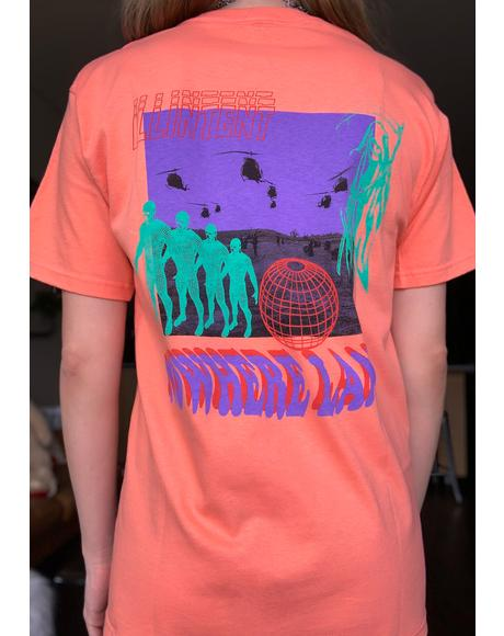 Coral Nowhere Graphic Tee
