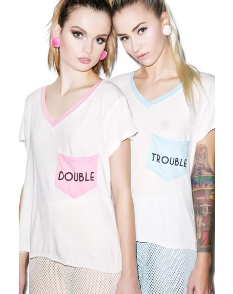 Trouble Romeo Pocket V-Neck Tee
