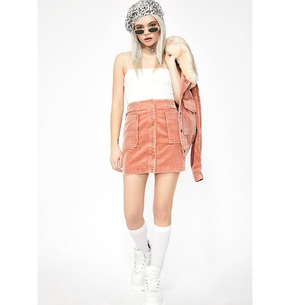 Honey Punch Pretty Sweet Enough Corduroy Skirt