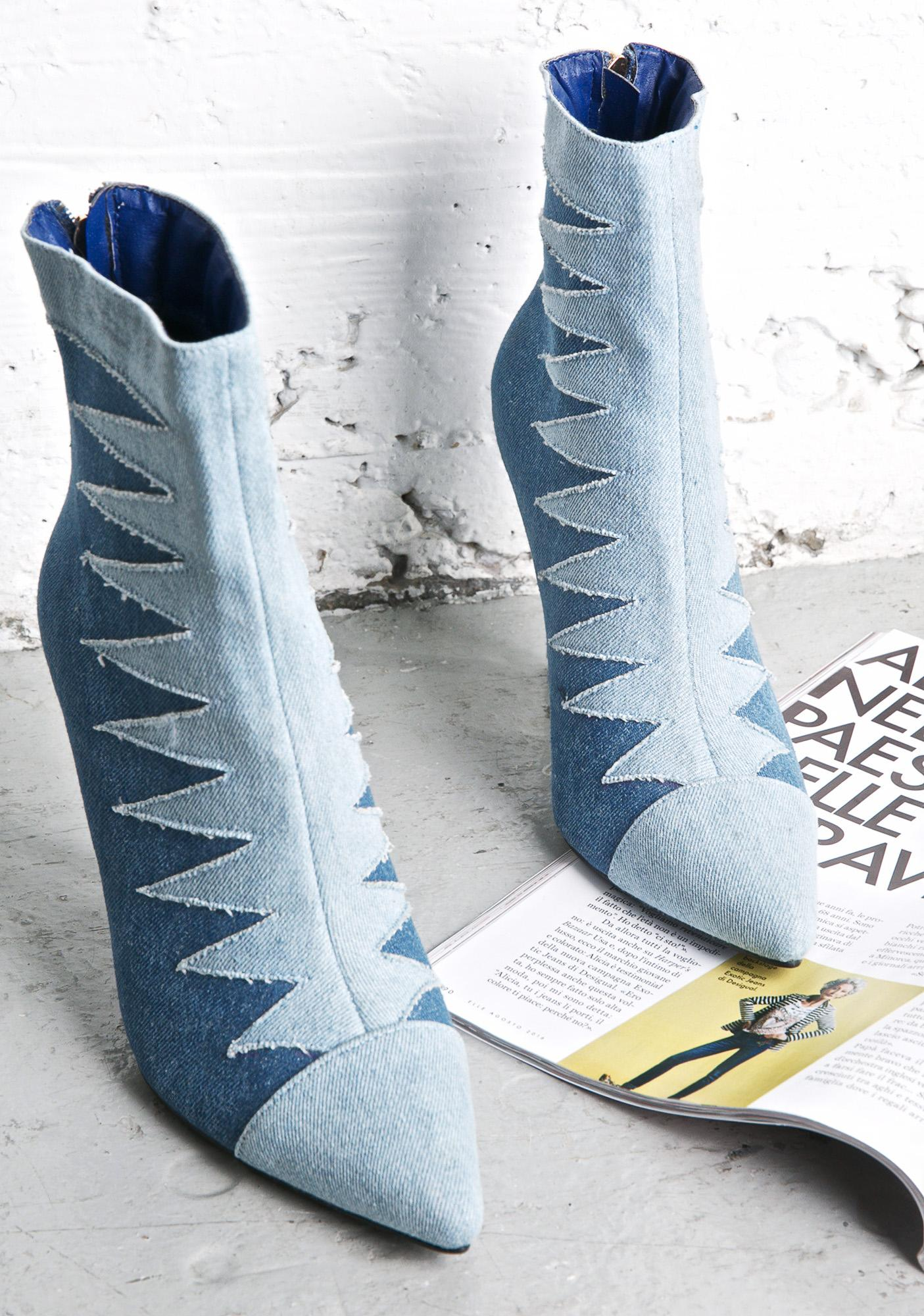 Take Me Higher Denim Booties
