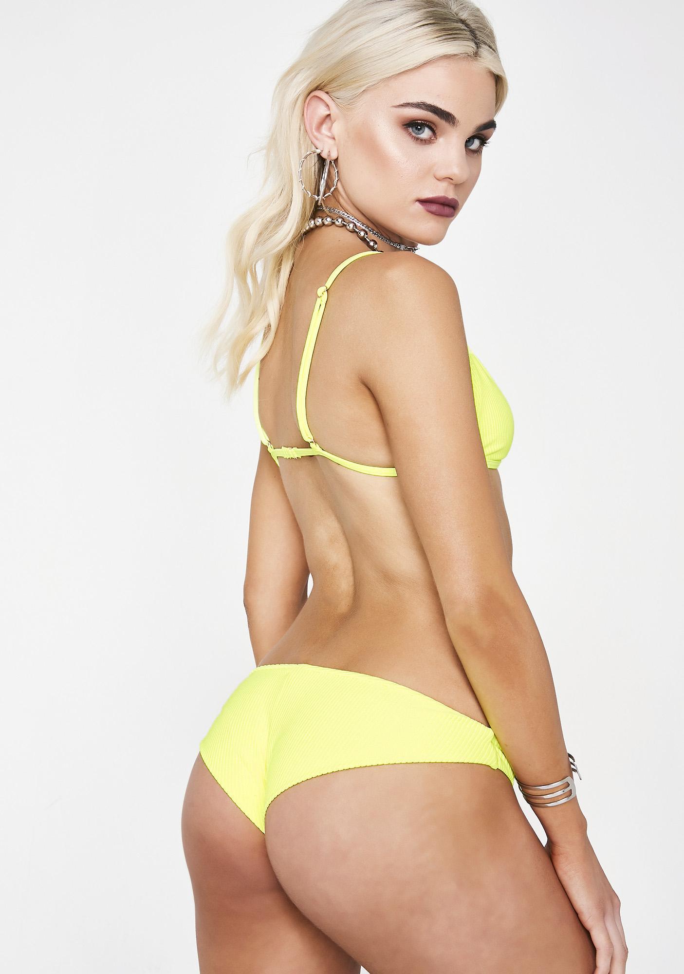 Frankies Bikinis Lemon Drop Greer Bikini Bottoms