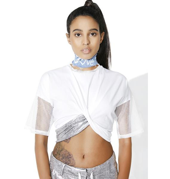 OKAYLA Twist Front Crop Top