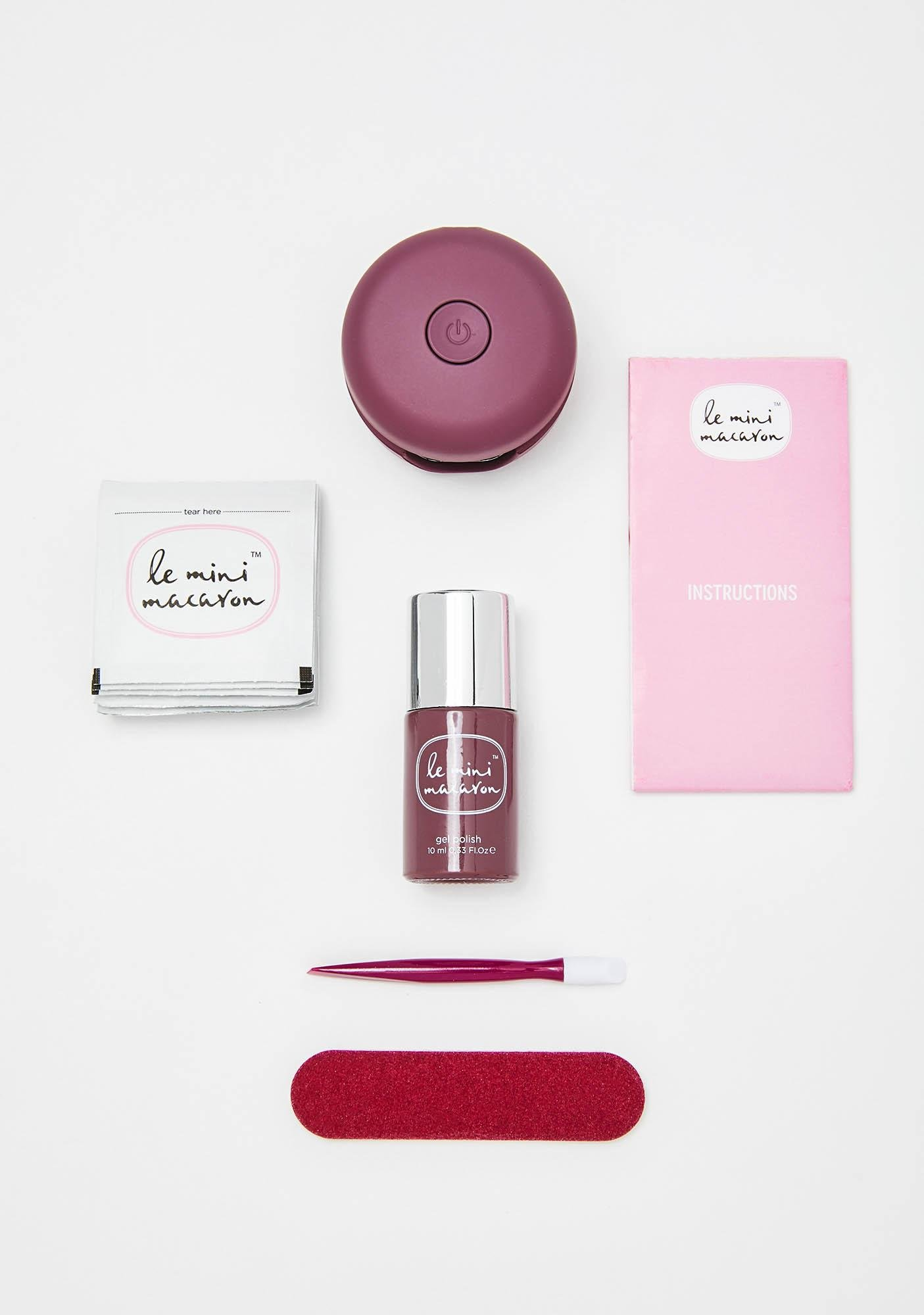 Le Mini Macaron Rum Raisin Gel Manicure Kit