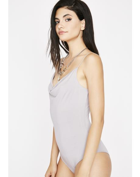 Take A Photo Draped Bodysuit