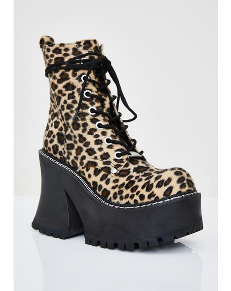 Catty Animal Behavior Platform Boots