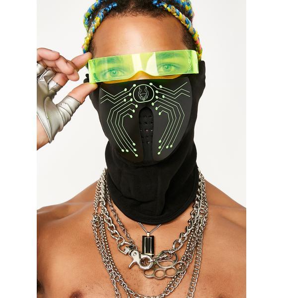 Cyberdog Microchip Light Up Mask