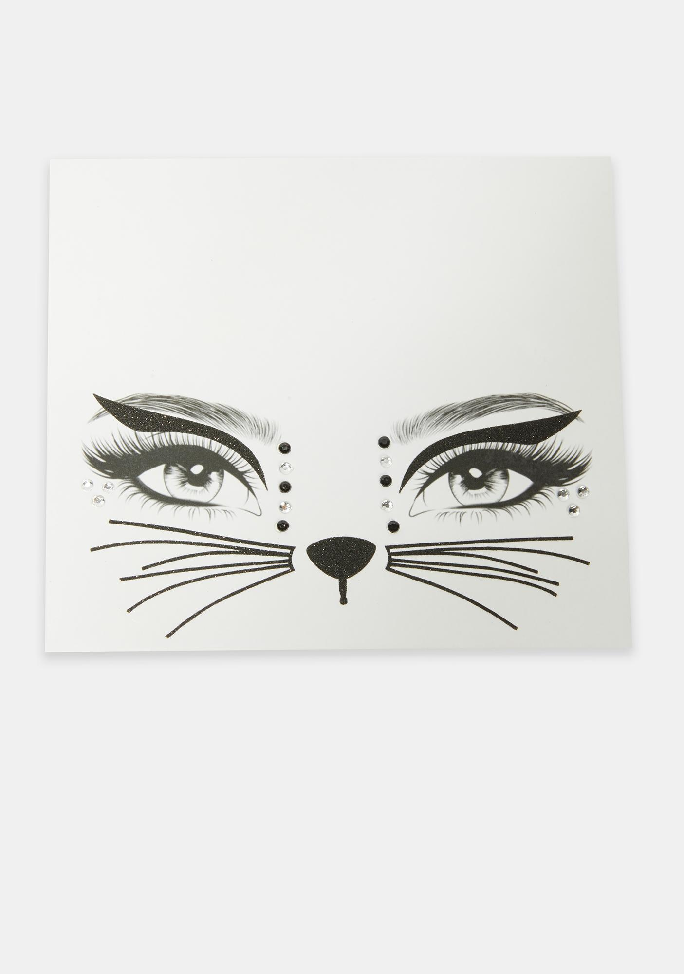 Here Kitty Face Stickers