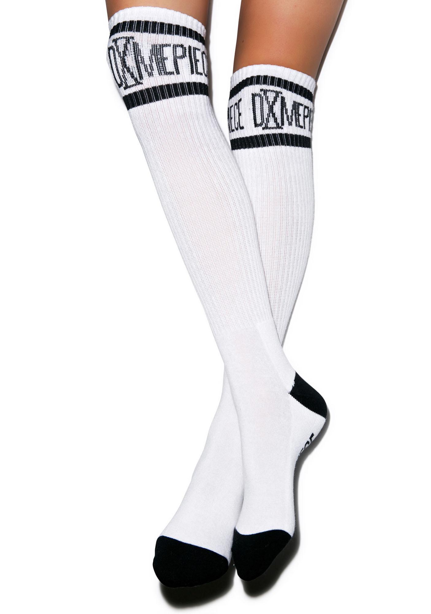Dimepiece Athletic Logo Knee High Socks