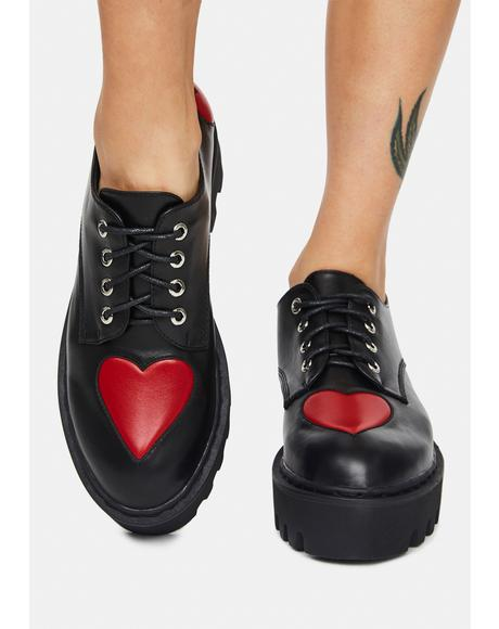 Candlelight Heart Oxford Shoes
