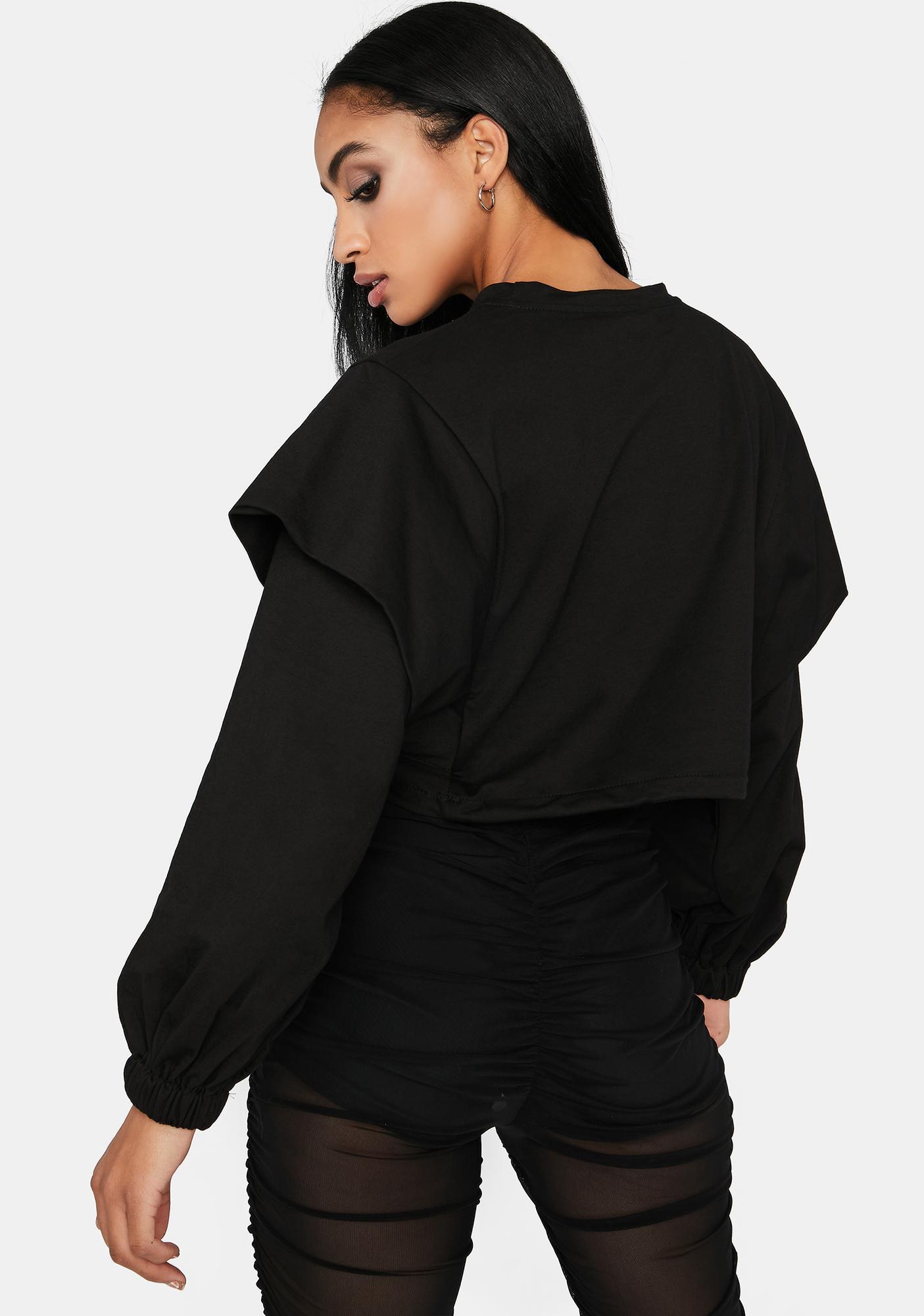 Never Back Down Layered Sweatshirt