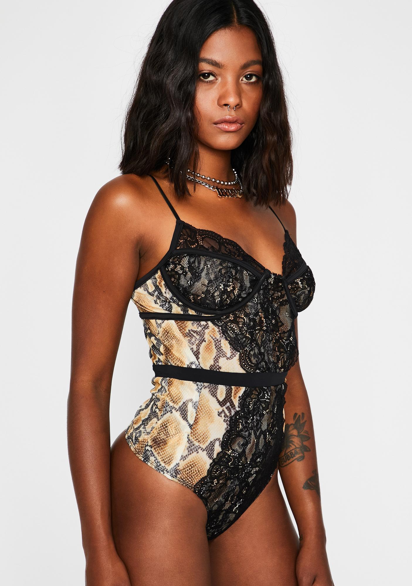Venom I'm Fierce Lace Bodysuit