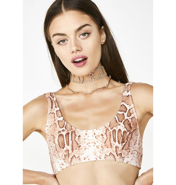 Bedroom Behavior Lingerie Snakecharmer Scoop Neck Top