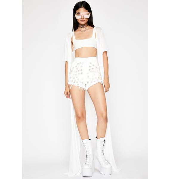 Heavenly Disco Queen Denim Shorts