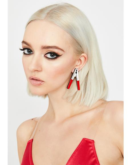 Flame Gimme A Jump Drop Earrings