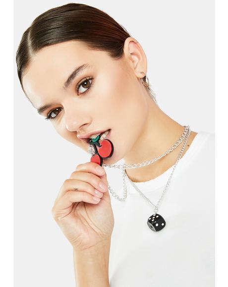 Delicious Decision Charm Necklace