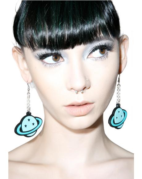 Planet Dangle Earrings