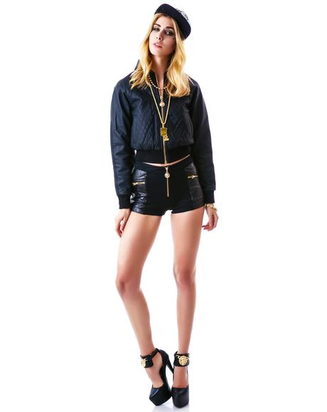 Classy Like Versayce Quilted Shorts