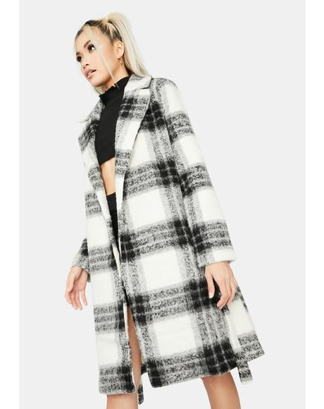 Domino Favored By Society Plaid Coat