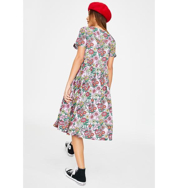 Lazy Oaf Mixed Bunch Flower Dress