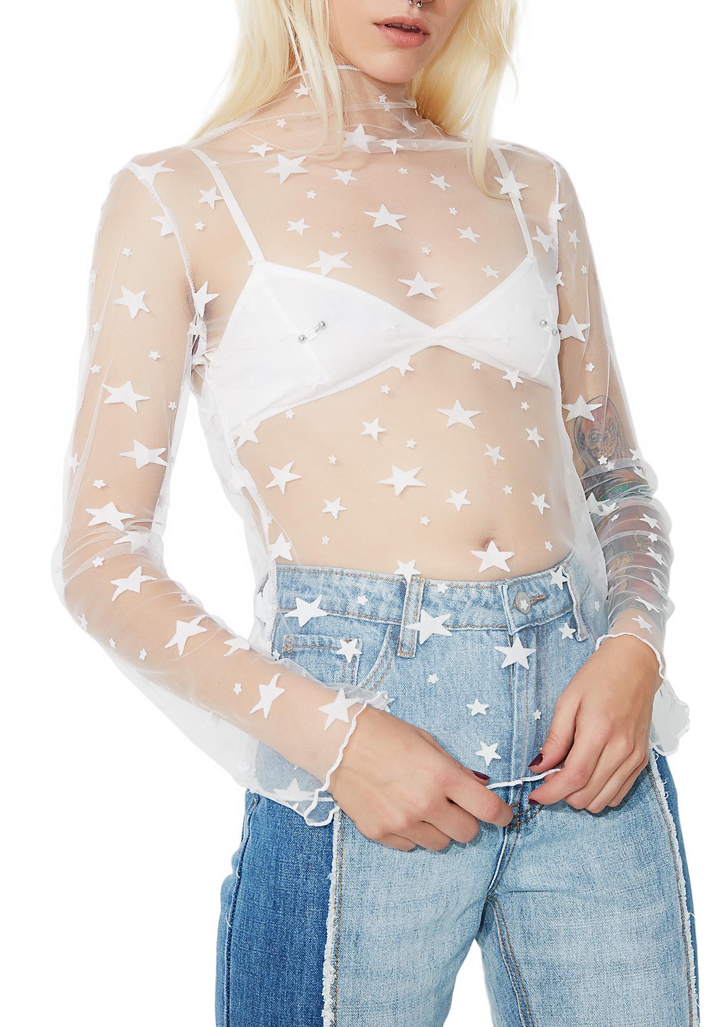 Star Dazed Sheer Top