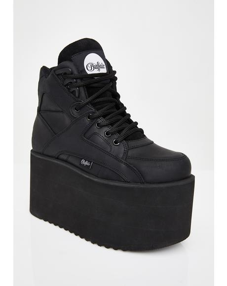 Dark Rising Towers High Nappa Leather Sneakers
