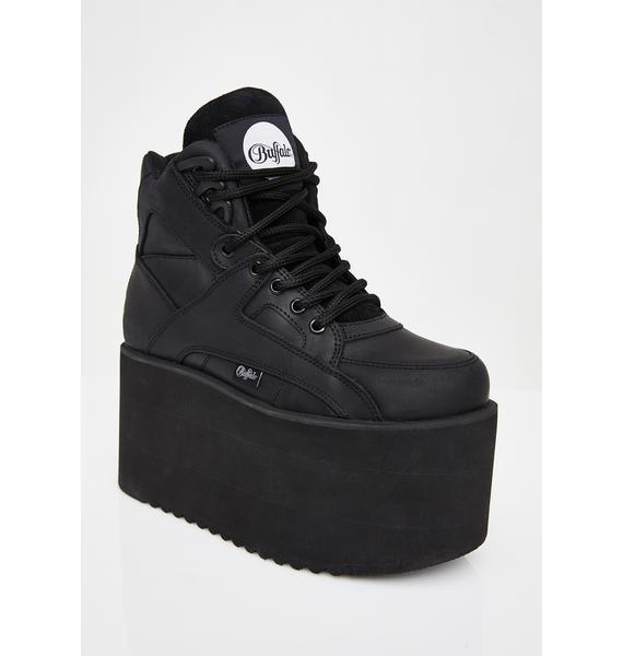 Buffalo London Dark Rising Towers High Nappa Leather Sneakers