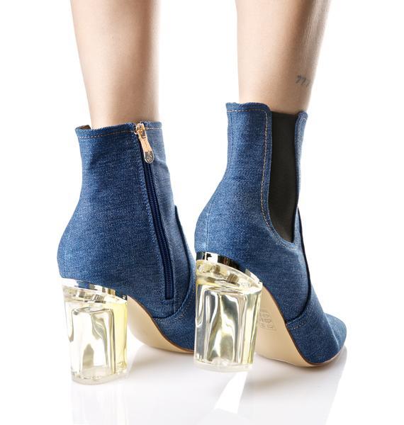 Denim Saturn Boots