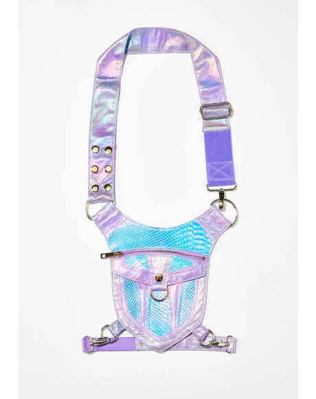 Cosmic Oracle Snakeskin Hip Bag