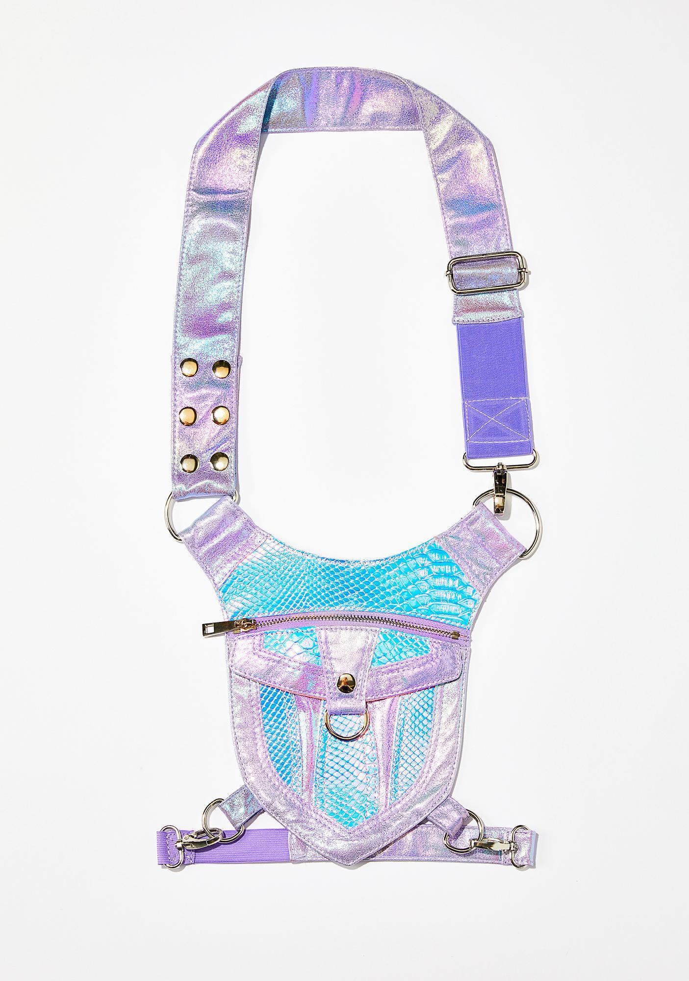 Club Exx Cosmic Oracle Snakeskin Hip Bag