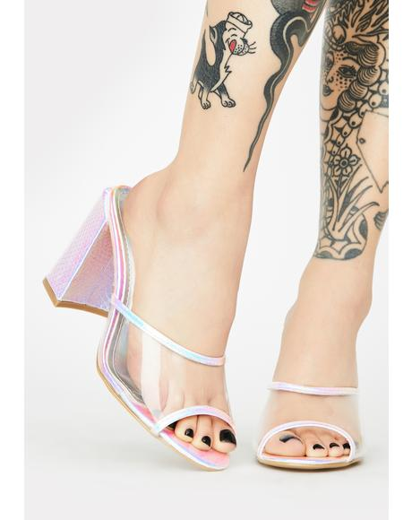 So Totally Sweet Peep Toe Heels