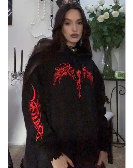 Looking For Danger Hoodie Dress