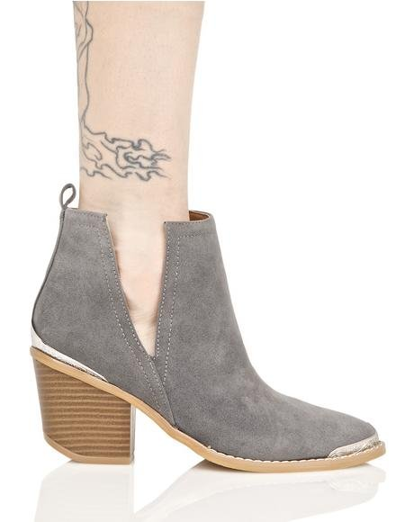 Smoke Sidewinder Cut Out Boots