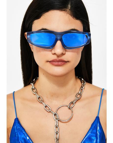 Aqua Miss Y2K Sunglasses
