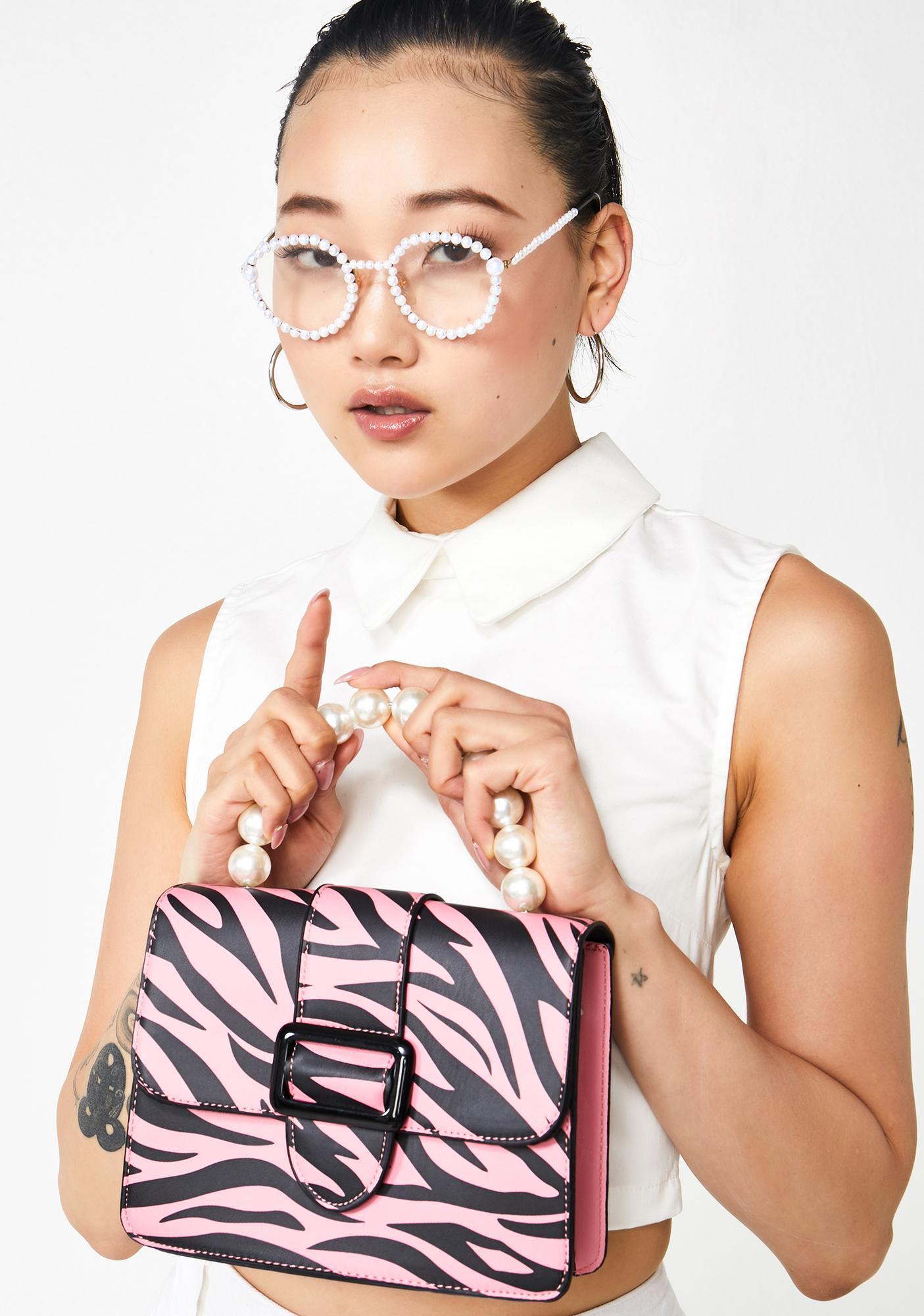 Skinnydip Estelle Zebra Crossbody Bag