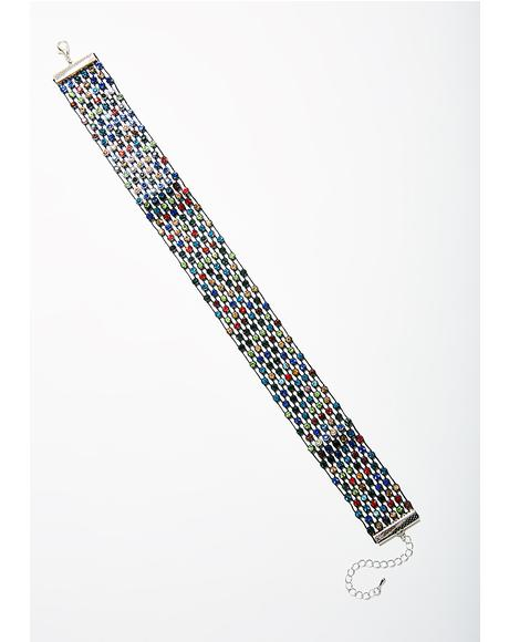 Rainbow Licker Choker