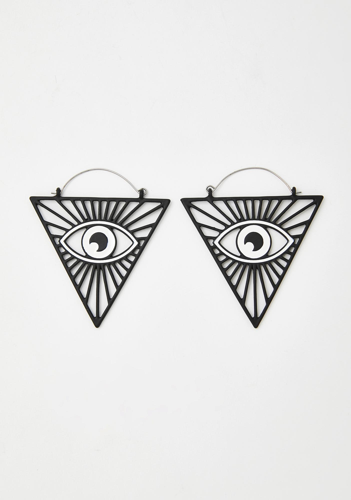 All Seeing Eye Drop Earrings