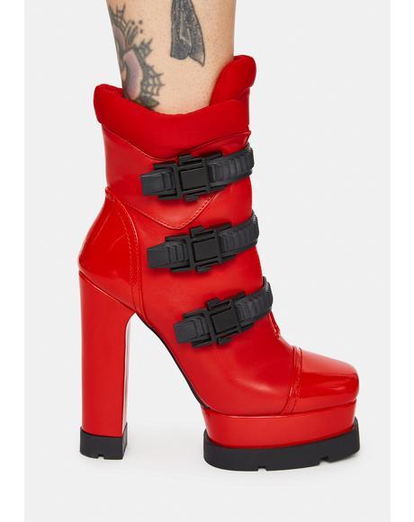 Lying Buckle Boots