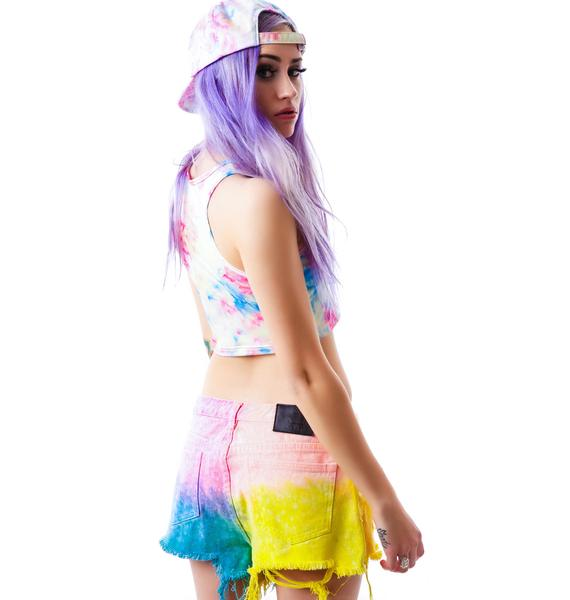 UNIF Tie Dye Hangover Shorts