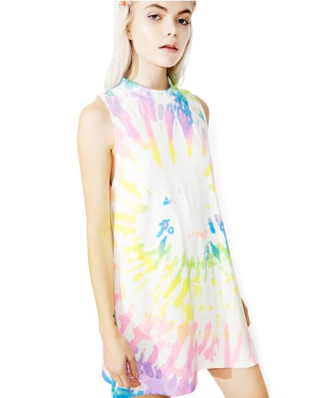 Rainbow Haze Tank Dress