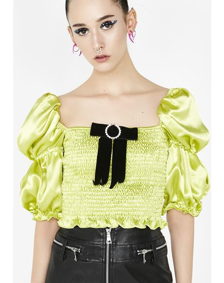 Green Puff Top