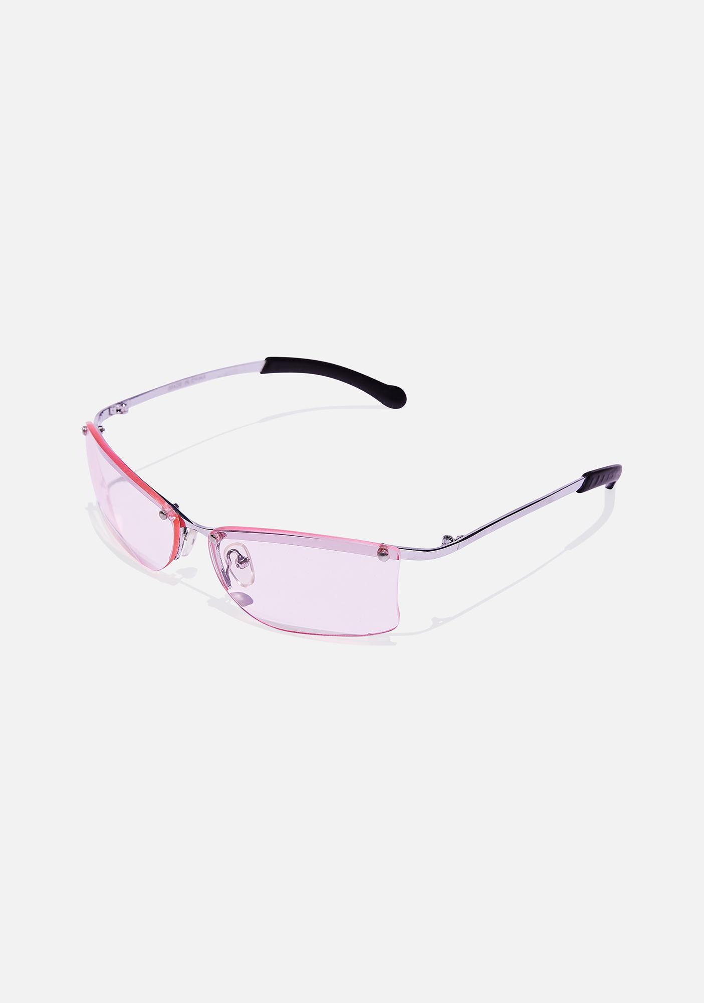 Good Times Eyewear Pink Ness Frameless Sunglasses