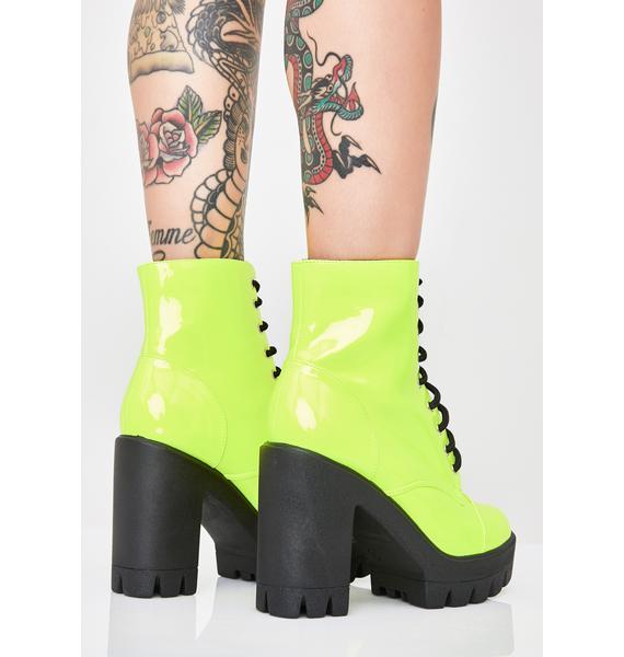 Lucky Winner Platform Boots